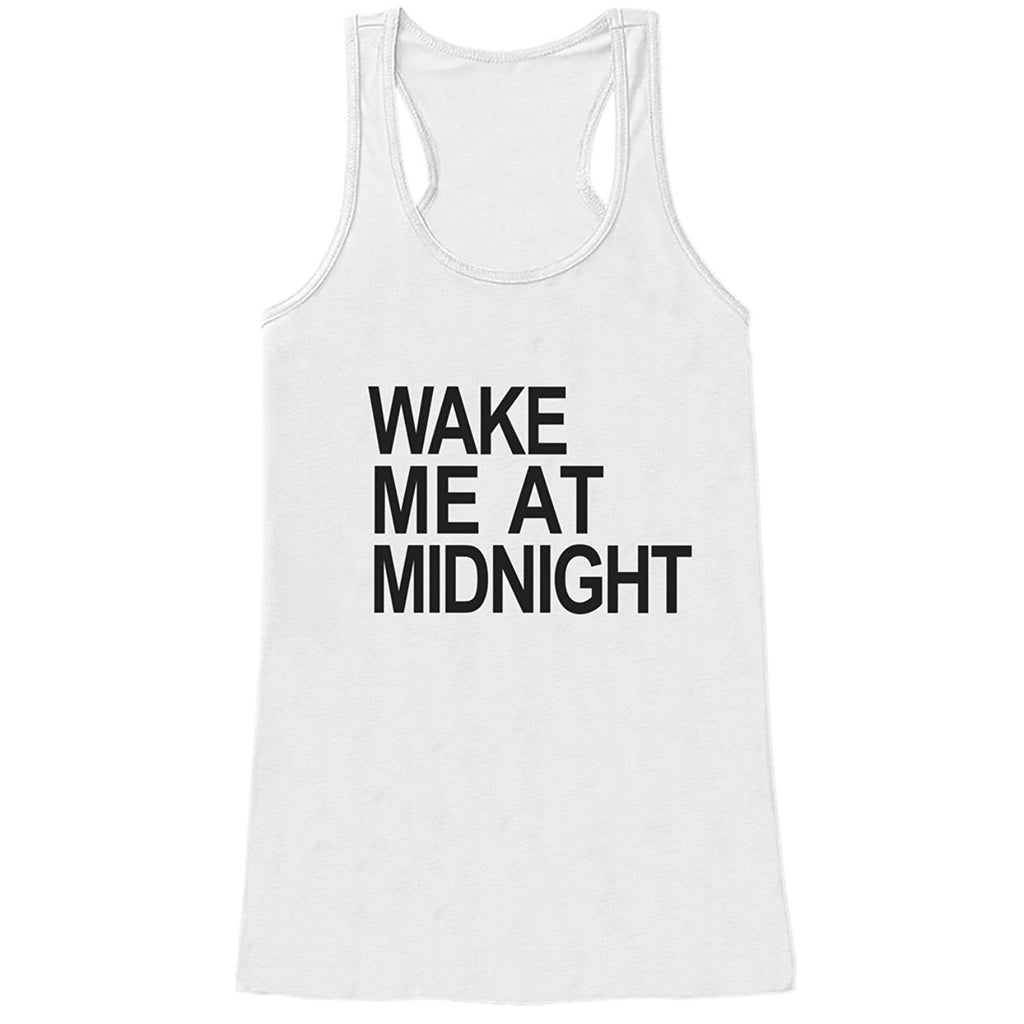 7 ate 9 Apparel Women's Wake Me at Midnight New Years Tank Top