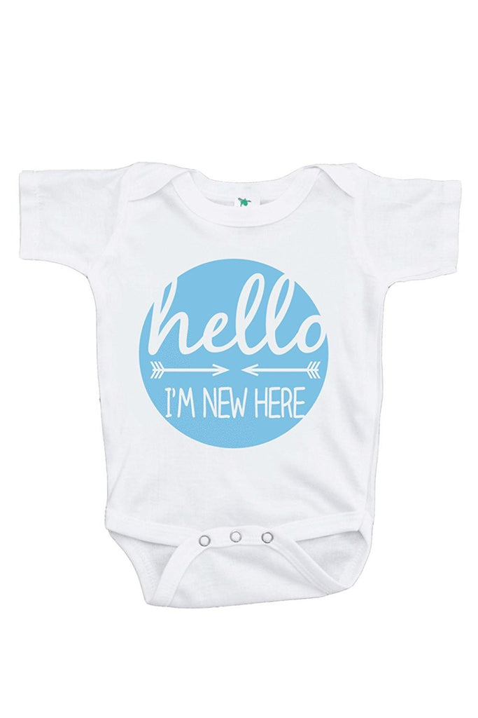 7 ate 9 Apparel Baby Boy's I'm New Here Onepiece