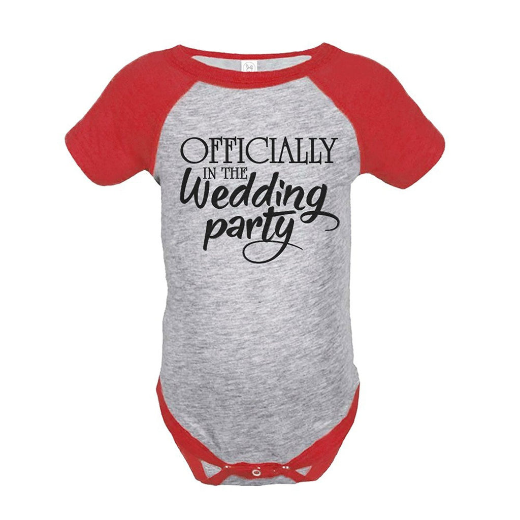 7 ate 9 Apparel Baby's Wedding Party Wedding Raglan Onepiece
