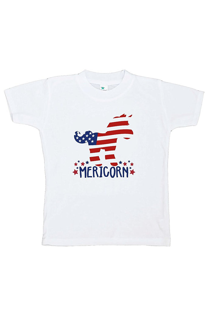 7 ate 9 Apparel Kids Unicorn 4th of July T-shirt