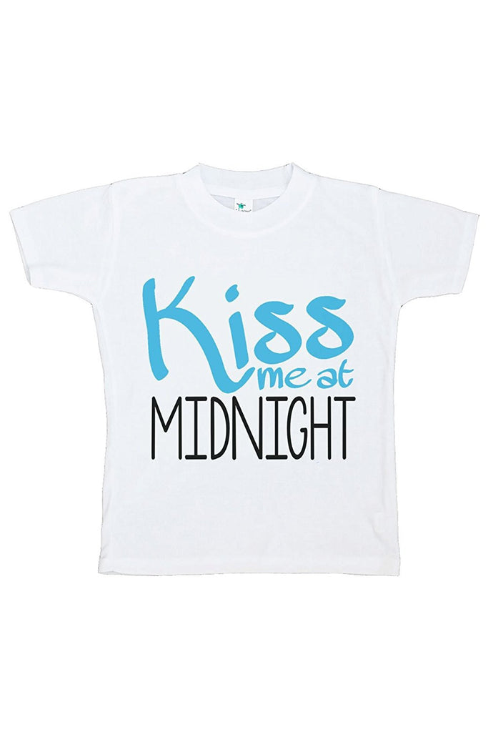 7 ate 9 Apparel Kids Kiss Me At Midnight Happy New Year T-shirt
