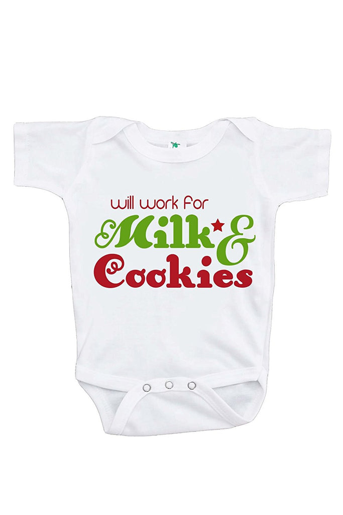f27225f6 7 ate 9 Apparel Baby's Funny Christmas Onepiece