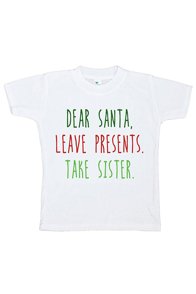 7 ate 9 Apparel Youth Funny Dear Santa Christmas T-shirt
