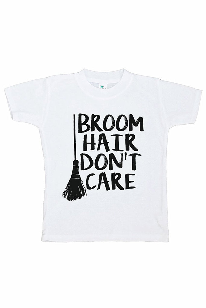 7 ate 9 Apparel Kids Broom Hair Halloween T-shirt