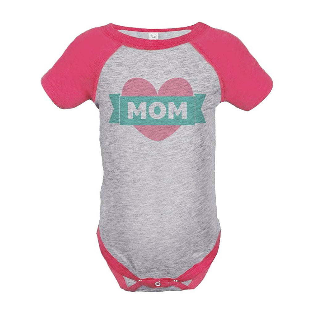 7 ate 9 Apparel Baby Girls' Mothers Day Baseball Onepiece