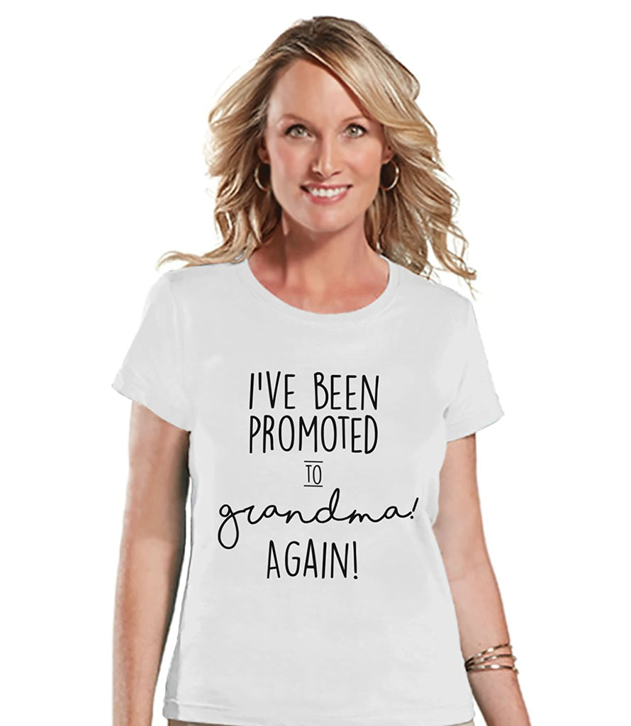 7 ate 9 Apparel Women's Promoted to Grandma Pregnancy Announcement T-shirt
