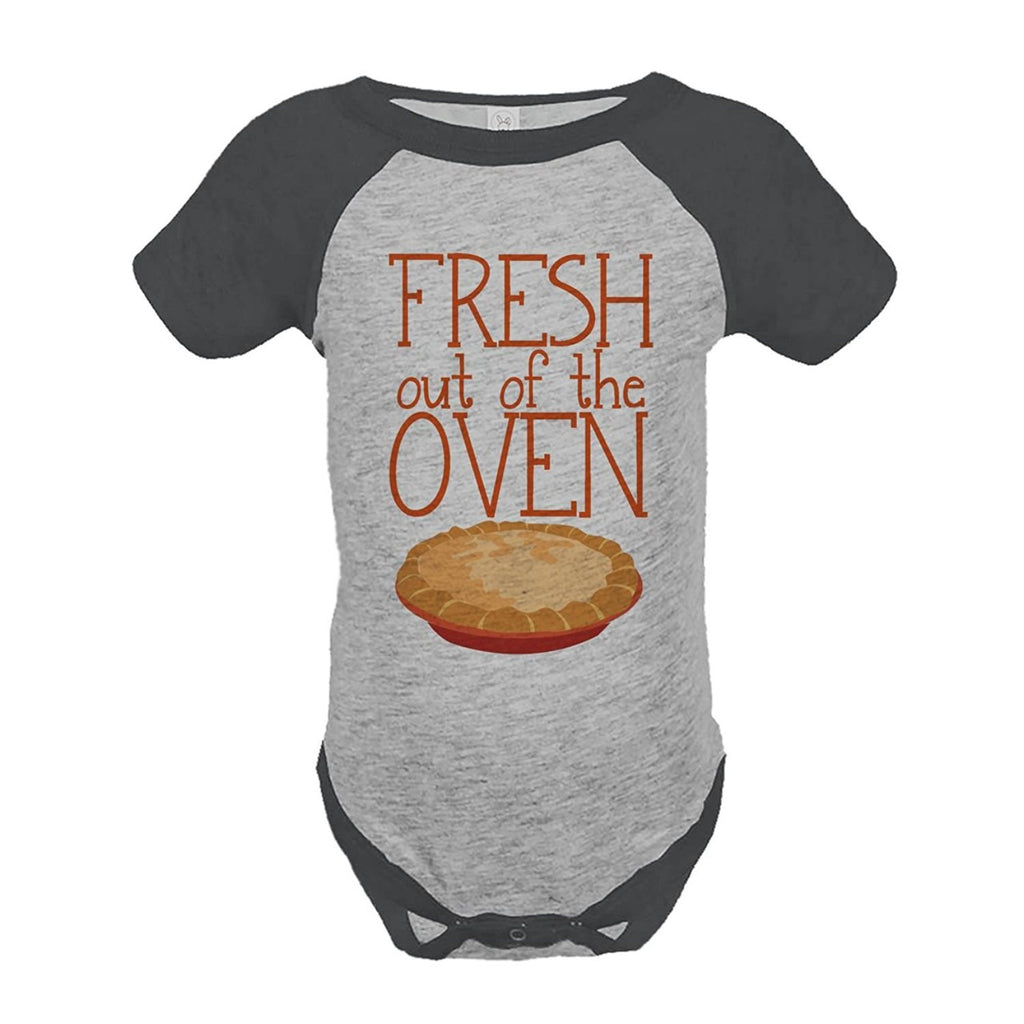 7 ate 9 Apparel Baby's Fresh Out Of The Oven Thanksgiving Onepiece
