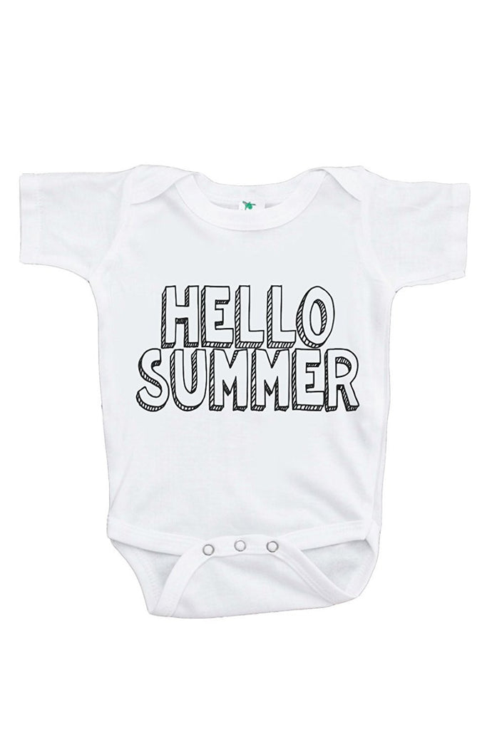 7 ate 9 Apparel Baby's Hello Summer Onepiece