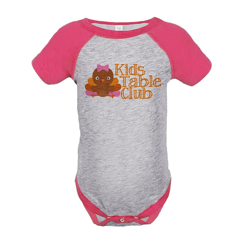 7 ate 9 Apparel Baby Girl's Kid's Table Thanksgiving Onepiece