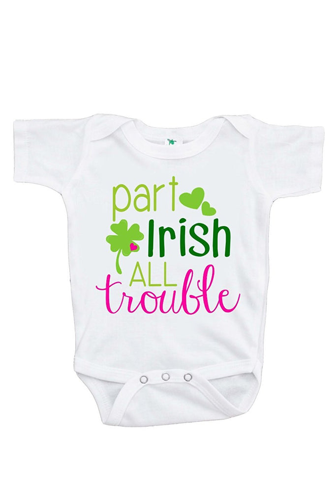 7 ate 9 Apparel Baby Girls' Novelty St. Patricks Day Onepiece