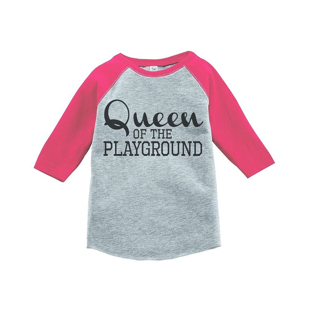 7 ate 9 Apparel Girls Queen of the Playground School Raglan Tee