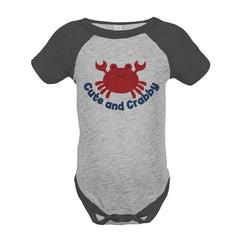 7 ate 9 Apparel Cute and Crabby Summer Raglan Onepiece