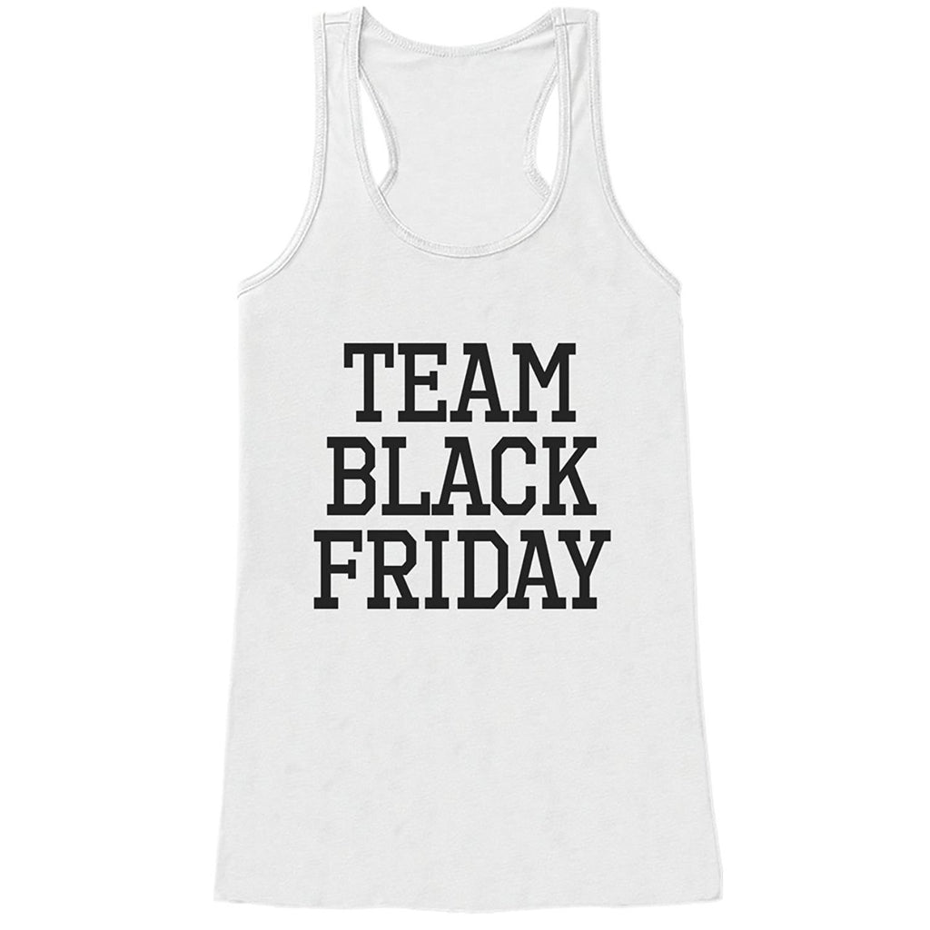7 ate 9 Apparel Womens Team Black Friday Tank Top