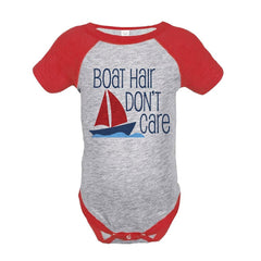 7 ate 9 Apparel Boat Hair Don't Care Summer Raglan Onepiece