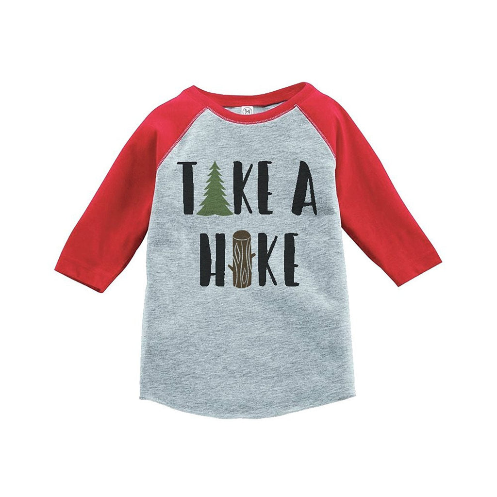 7 ate 9 Apparel Unisex Take a Hike Outdoors Raglan Tee