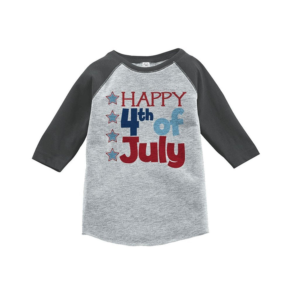 7 ate 9 Apparel Happy 4th of July Raglan Tee