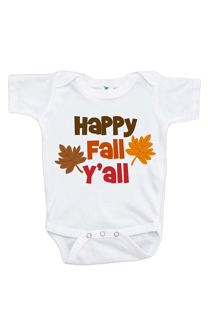 Happy Fall Y'all - Baby Boy's Onepiece