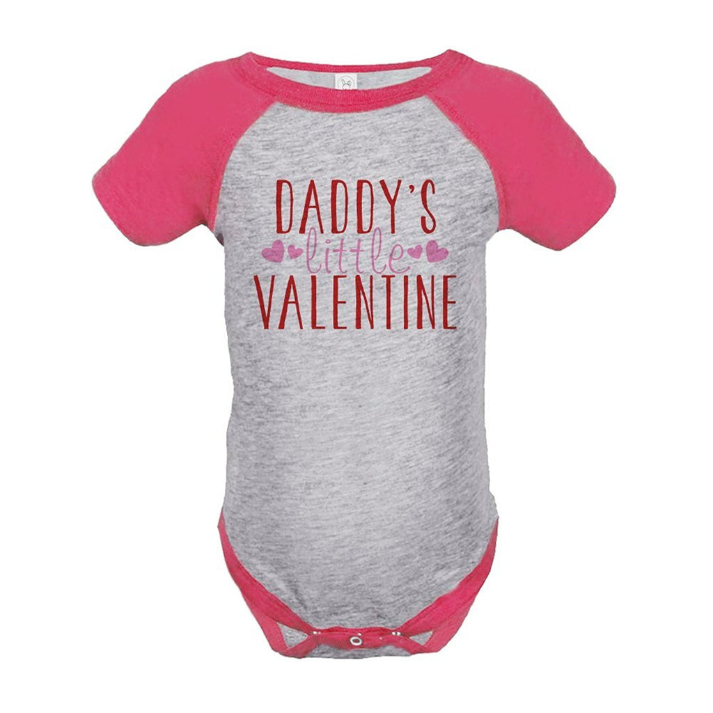 7 ate 9 Apparel Baby Girl's Daddy's Little Valentine Onepiece