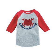 7 ate 9 Apparel Cute and Crabby Summer Raglan Tee