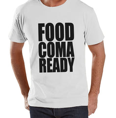 7 ate 9 Apparel Men's Food Coma Ready Thanksgiving T-Shirt