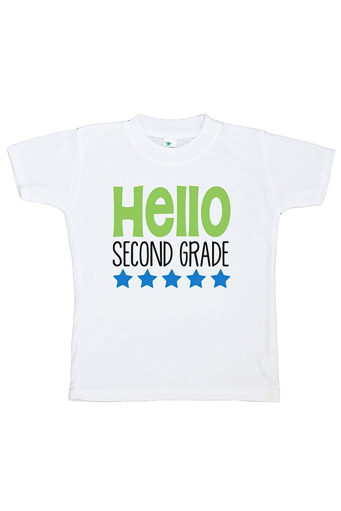 7 ate 9 Apparel Kids Hello 2nd Grade School T-shirt