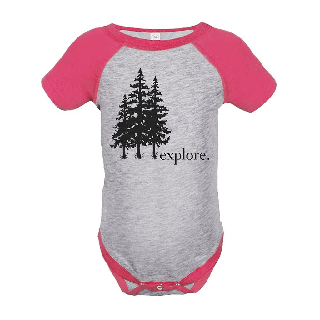 7 ate 9 Apparel Girl's Explore Outdoors Raglan Onepiece