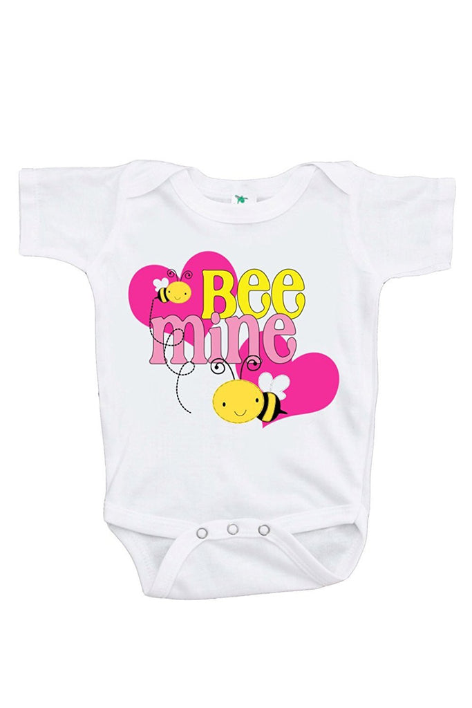 7 ate 9 Apparel Unisex Baby's Bee Mine Valentine's Day Onepiece