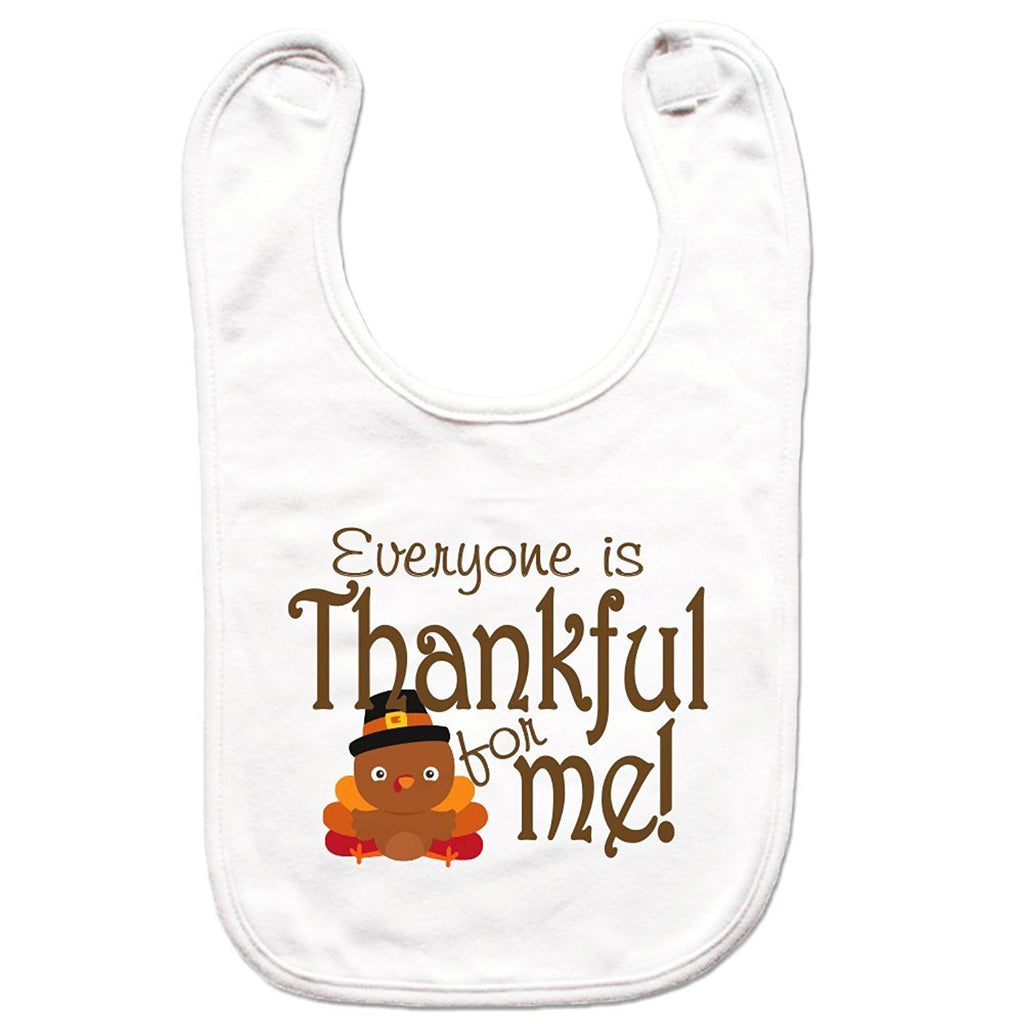 7 ate 9 Apparel Unisex Thanksgiving Bib for Babies