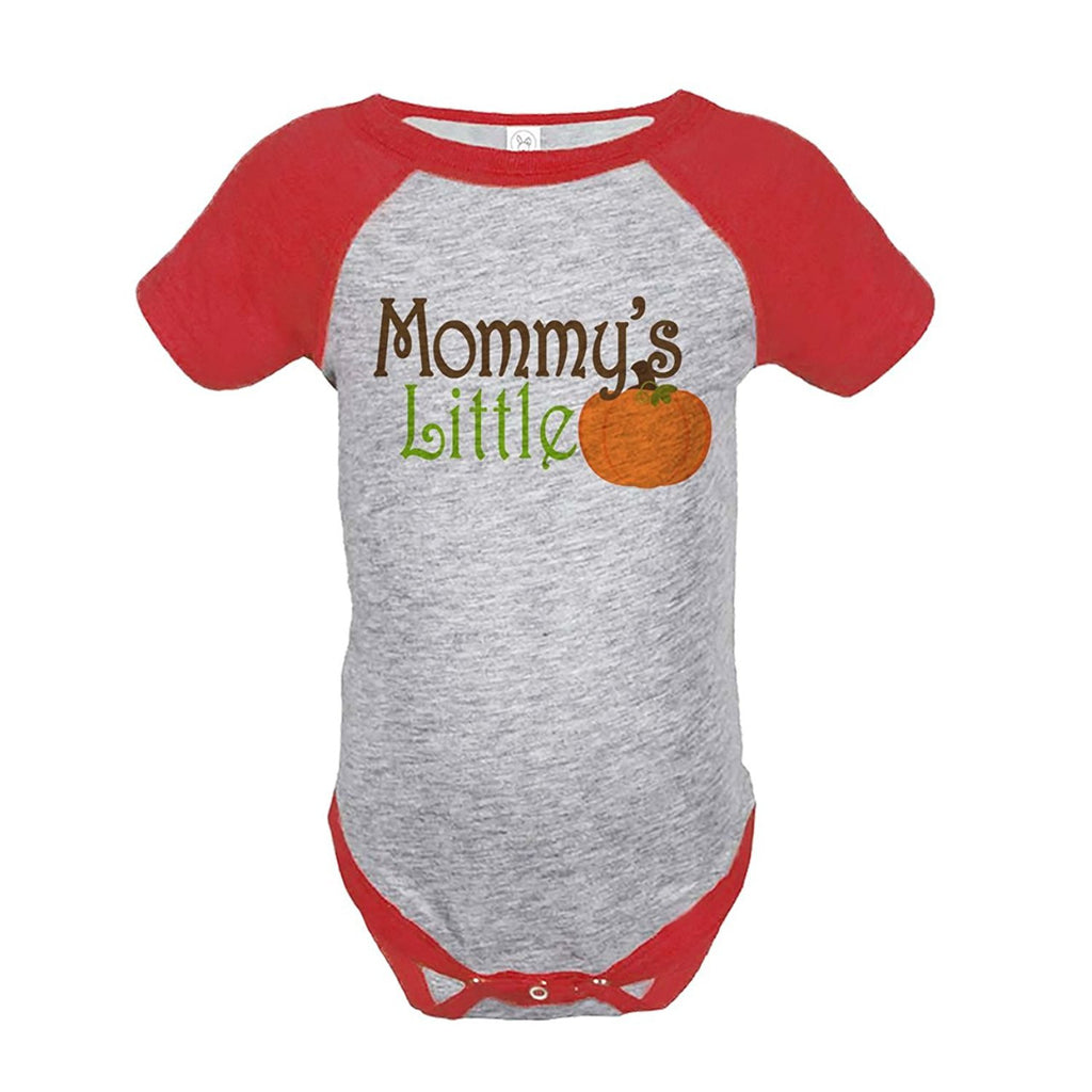 7 ate 9 Apparel Baby's Mommy's Little Pumpkin Onepiece