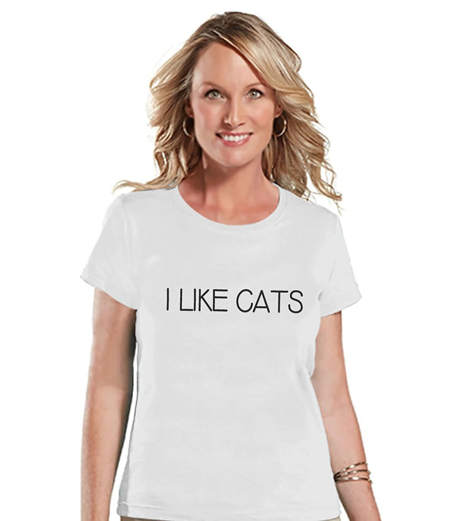 7 ate 9 Apparel Womens I Like Cats Funny T-shirt