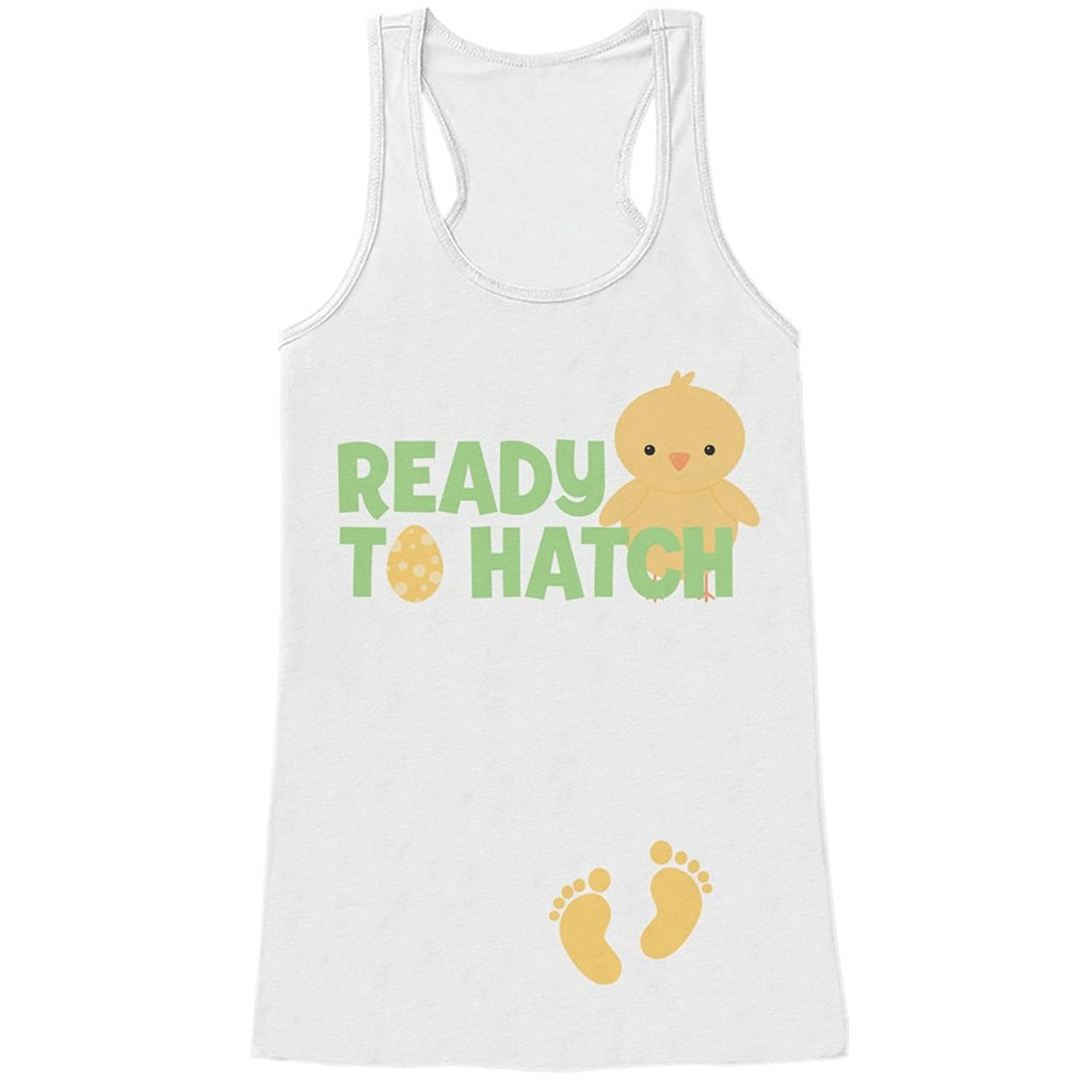 7 ate 9 Apparel Womens Ready to Hatch Pregnancy Reveal Tank Top