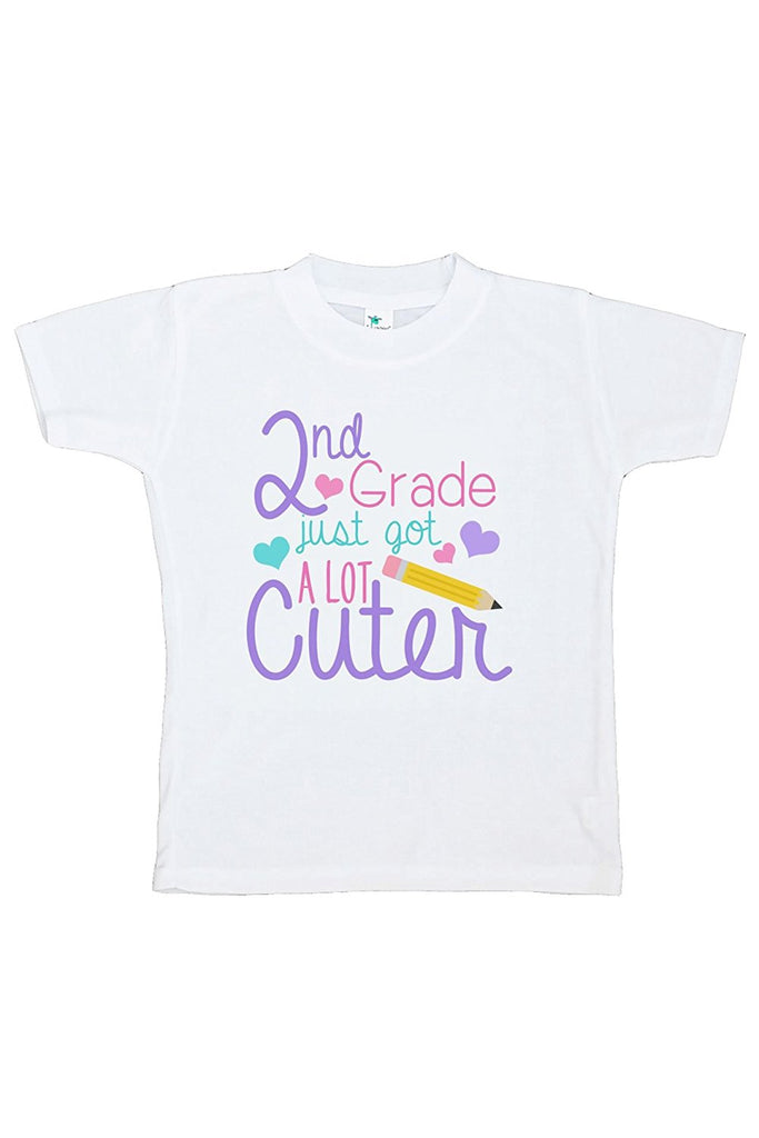 7 ate 9 Apparel Girls 2nd Grade Got Cuter School T-shirt