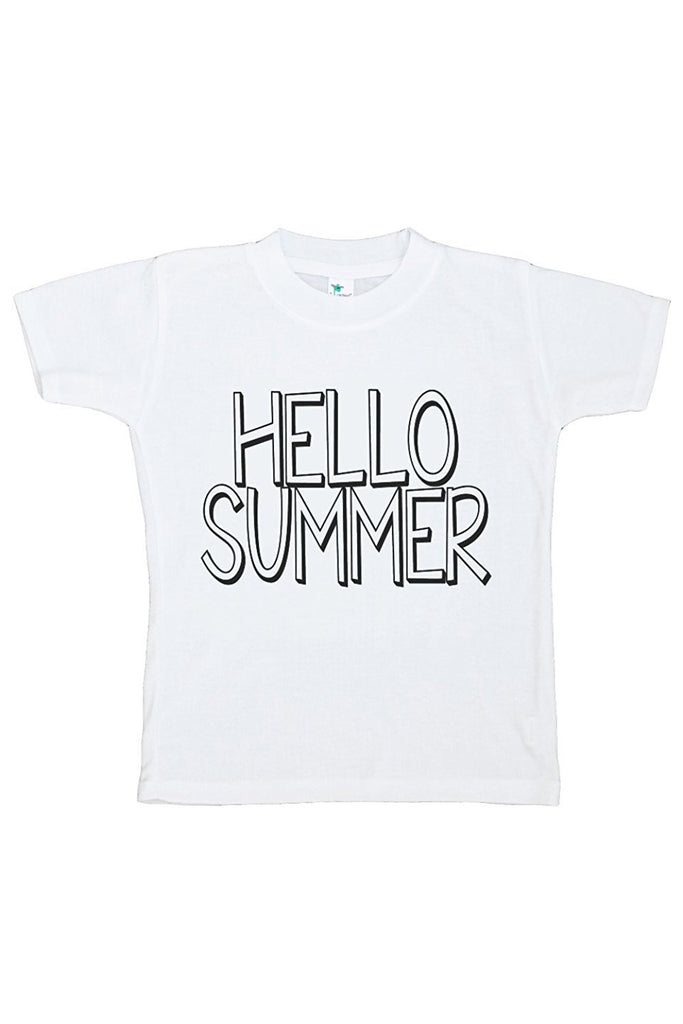 7 ate 9 Apparel Baby's Hello Summer T-shirt