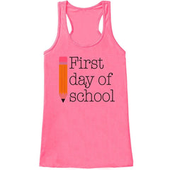 7 ate 9 Apparel Womens First Day of School Tank Top