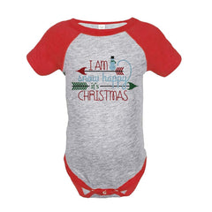 7 ate 9 Apparel Baby's Snow Happy Christmas Onepiece Red