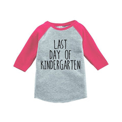 7 ate 9 Apparel Girls Last Day of Kindergarten School Raglan Tee