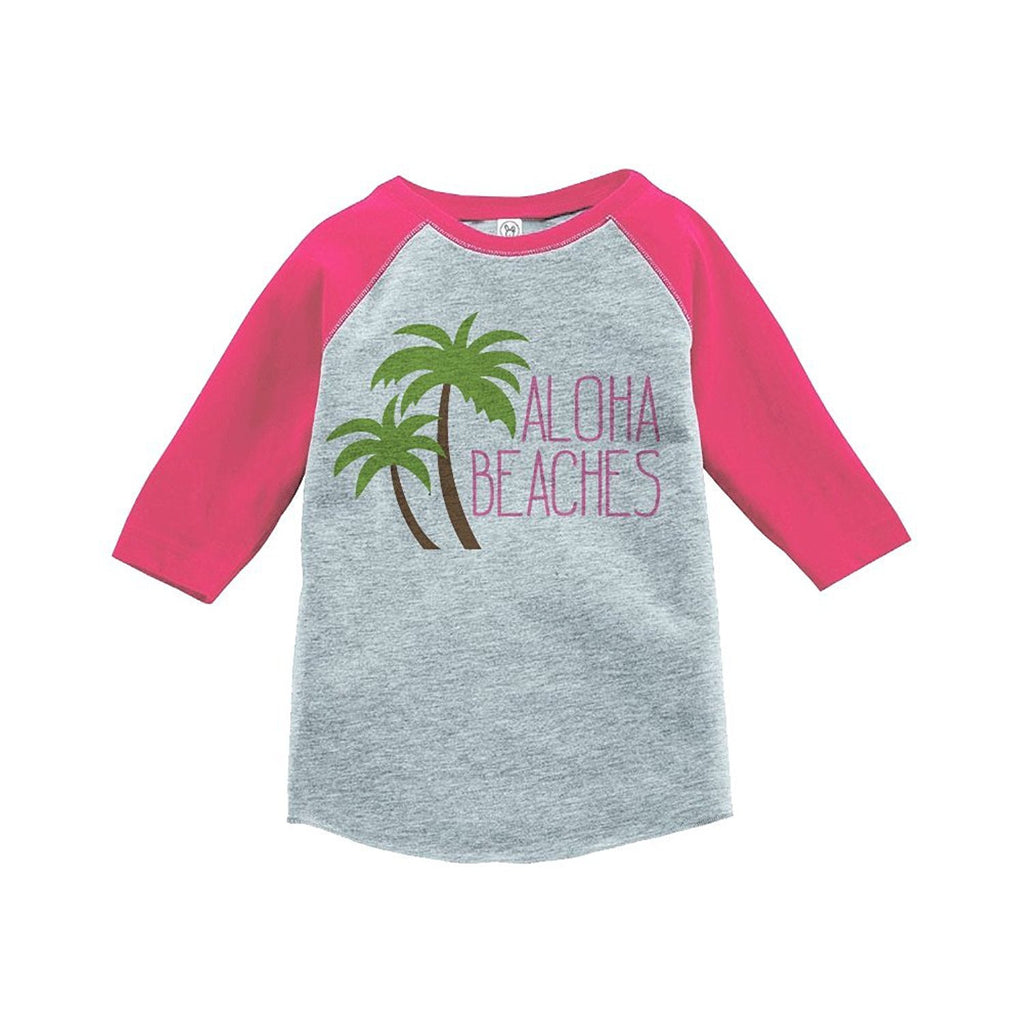 7 Ate 9 Apparel Aloha Beaches Summer Raglan Tee