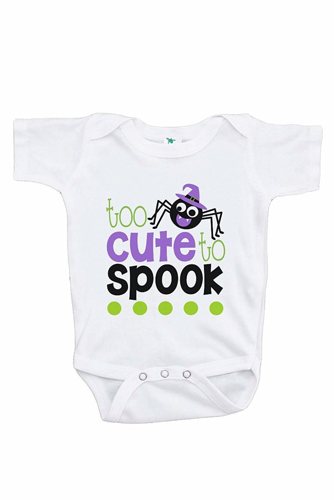 7 ate 9 Apparel Kids Too Cute To Spook Halloween Onepiece