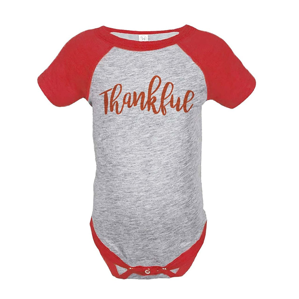 7 ate 9 Apparel Baby's Thankful Thanksgiving Onepiece