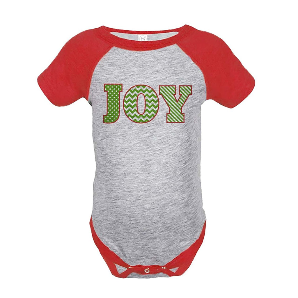 7 ate 9 Apparel Baby's Joy Christmas Onepiece Red