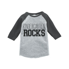 7 ate 9 Apparel Kids Kindergarten Rocks School Raglan Tee