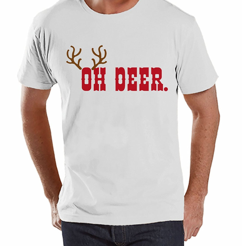 Oh Deer - Men's White T-shirt