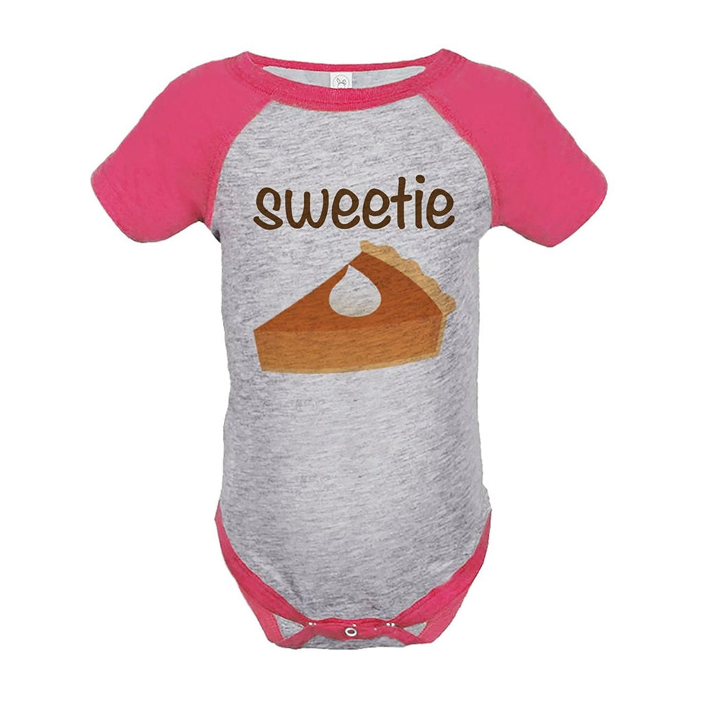 7 ate 9 Apparel Baby's Sweetie Pie Thanksgiving Onepiece