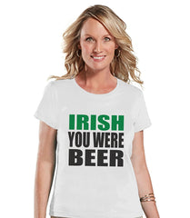 7 ate 9 Apparel Womens Beer St. Patrick's Day T-Shirt