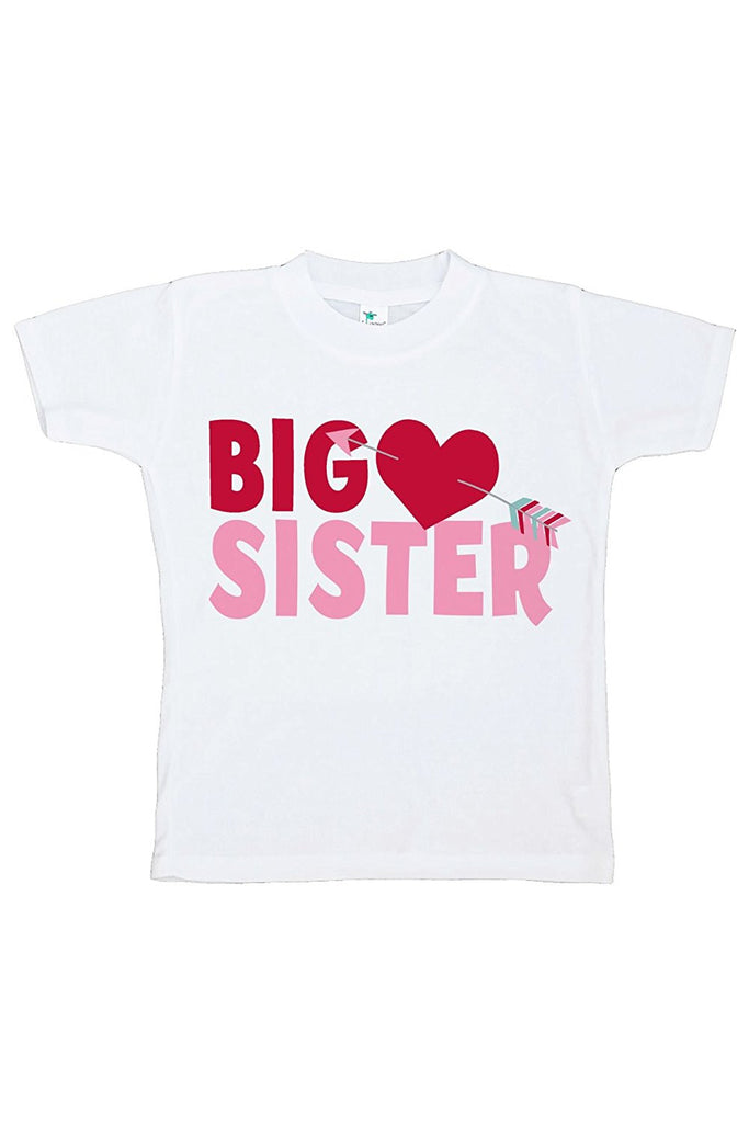 7 ate 9 Apparel Girl's Big Sister Happy Valentine's Day T-shirt