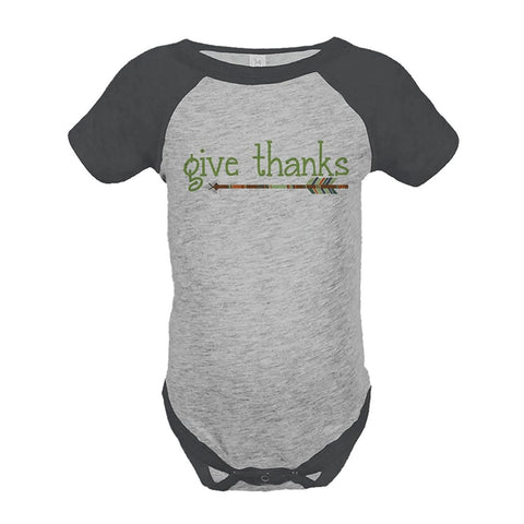 Custom Party Shop Baby's Give Thanks Thanksgiving Onepiece
