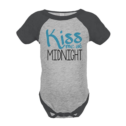 Custom Party Shop Baby's Kiss Me At Midnight Happy New Year Onepiece