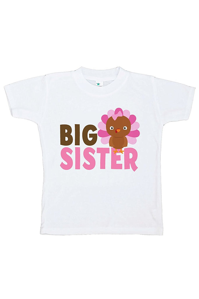 7 ate 9 Apparel Baby Girl's Big Sister Thanksgiving Tshirt
