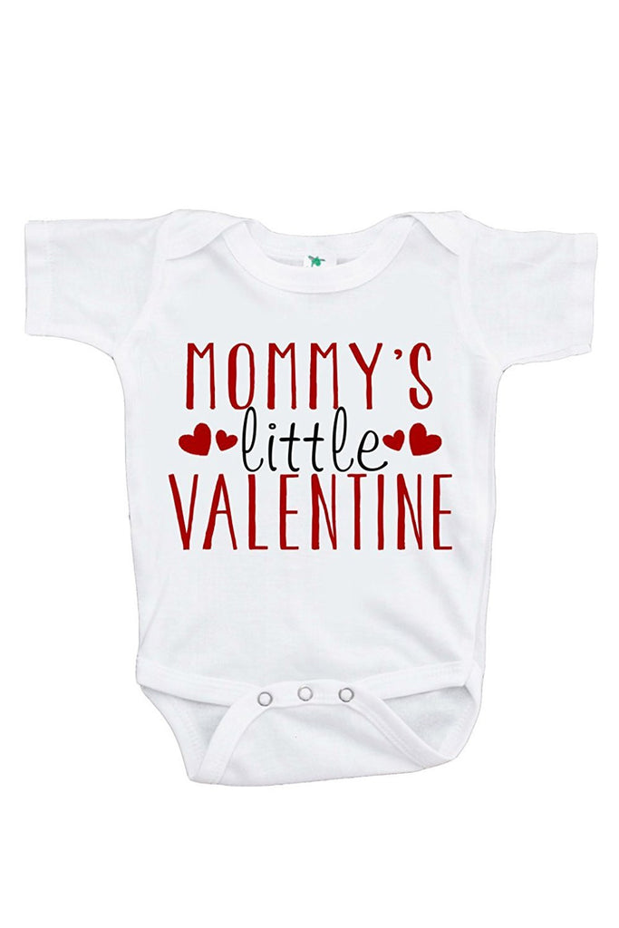 7 ate 9 Apparel Unisex Baby's Mommy's Little Valentine Onepiece
