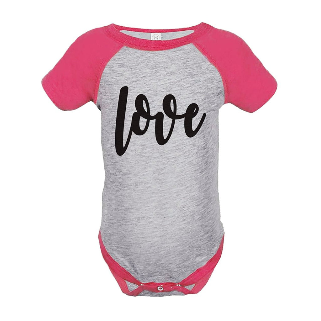7 ate 9 Apparel Kids Love Happy Valentine's Day Pink Onepiece